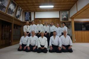 Gruppfoto med Inagaki sensei i Iwama. 2016-03-31 2016-03-31