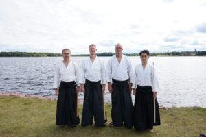 Michael, Fredrik Snell sensei, Jaakko och Pei